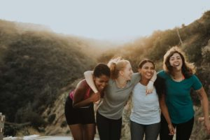 Group of Women hiking in aurora co